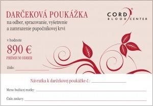 Darčeková poukážka - 890 Eur
