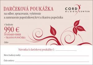 Darčeková poukážka - 990 Eur