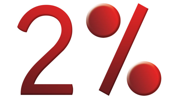2 percenta na liečbu
